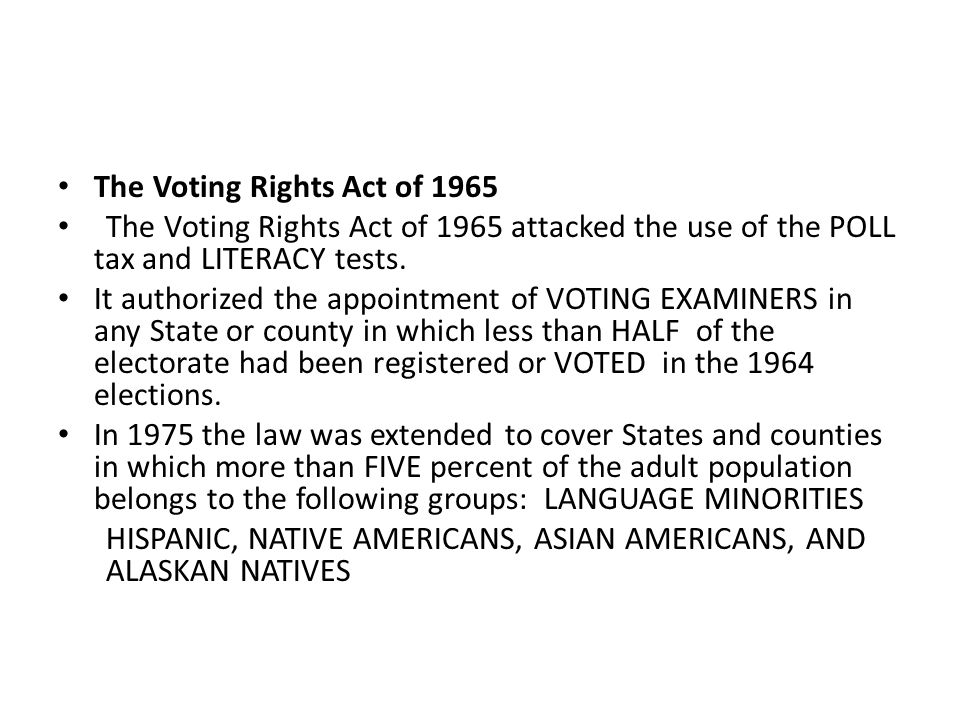 Voting Rights Lecture 64 A Voting Rights 11789 White Male