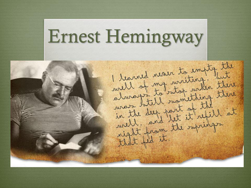 a man of the world ernest hemingway summary