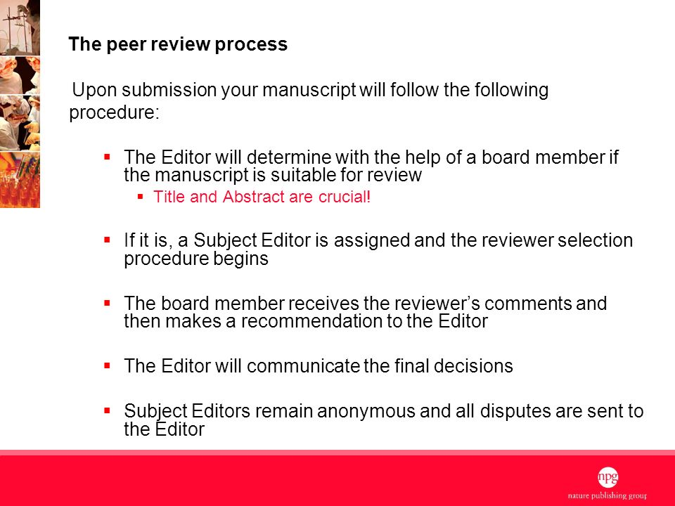 Nature Publishing Group Quality, Impact & Vision 1 Presented
