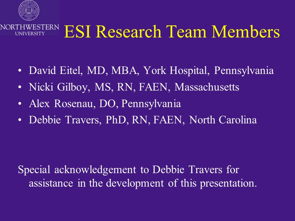 the emergency severity index esi a triage system research and