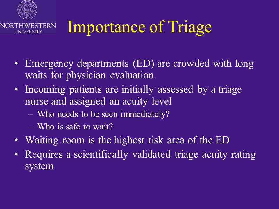 The Emergency Severity Index (ESI), A Triage System