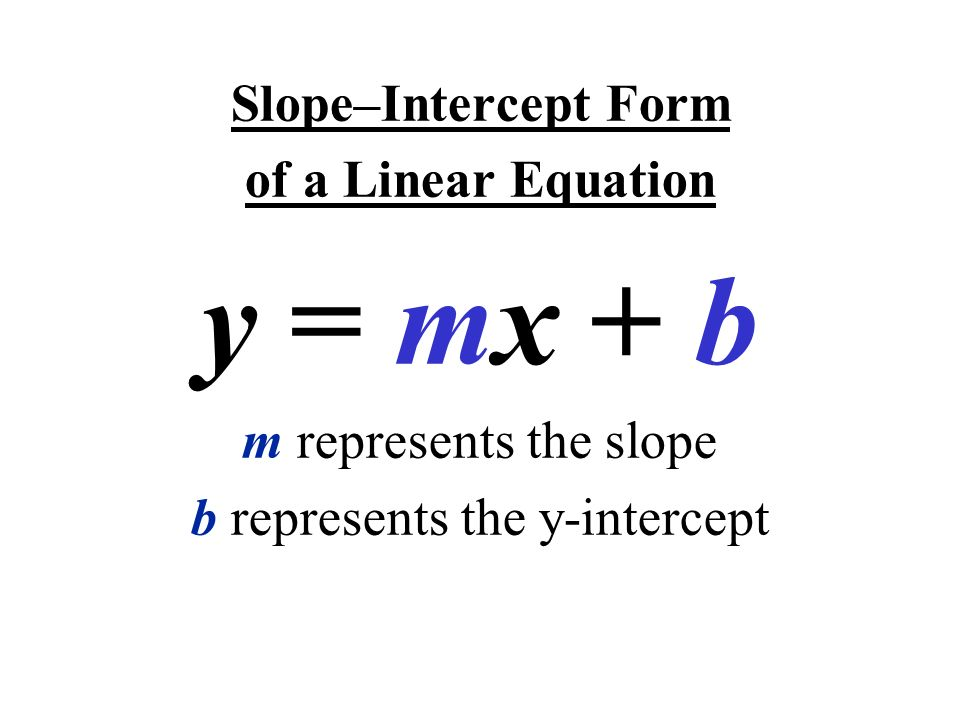 Objective Write Equations In Slope Intercept Form Identify Slope