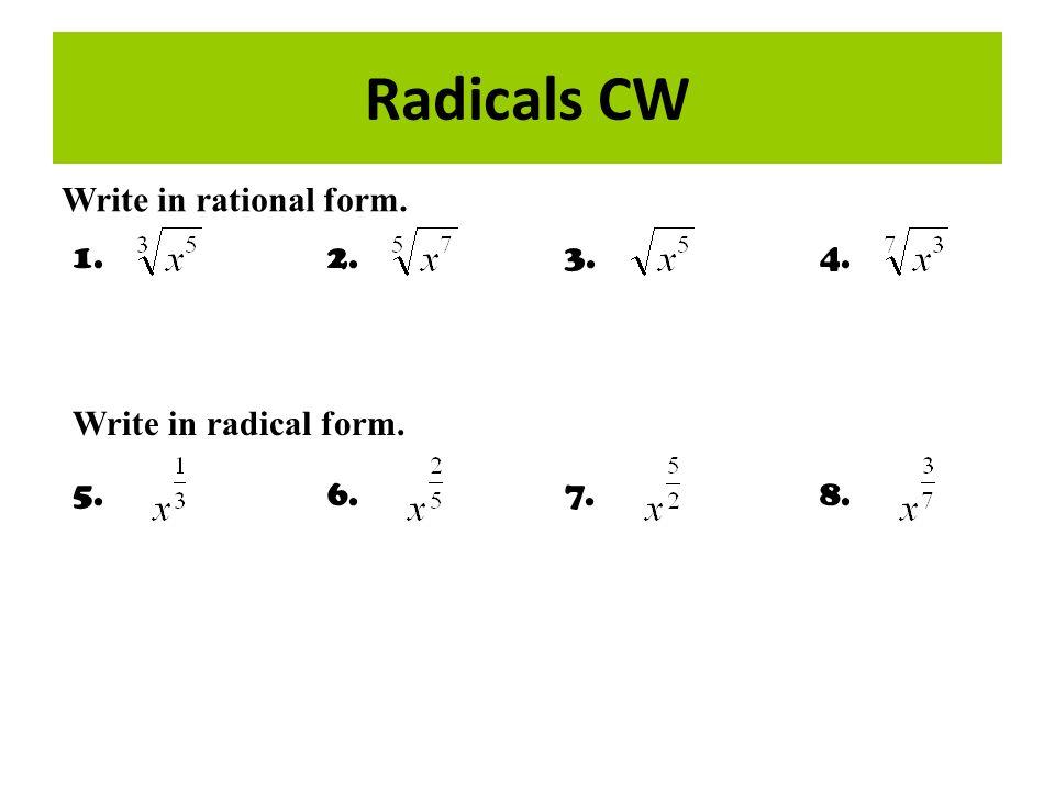 simplifying radicals index radical radicand steps for simplifying