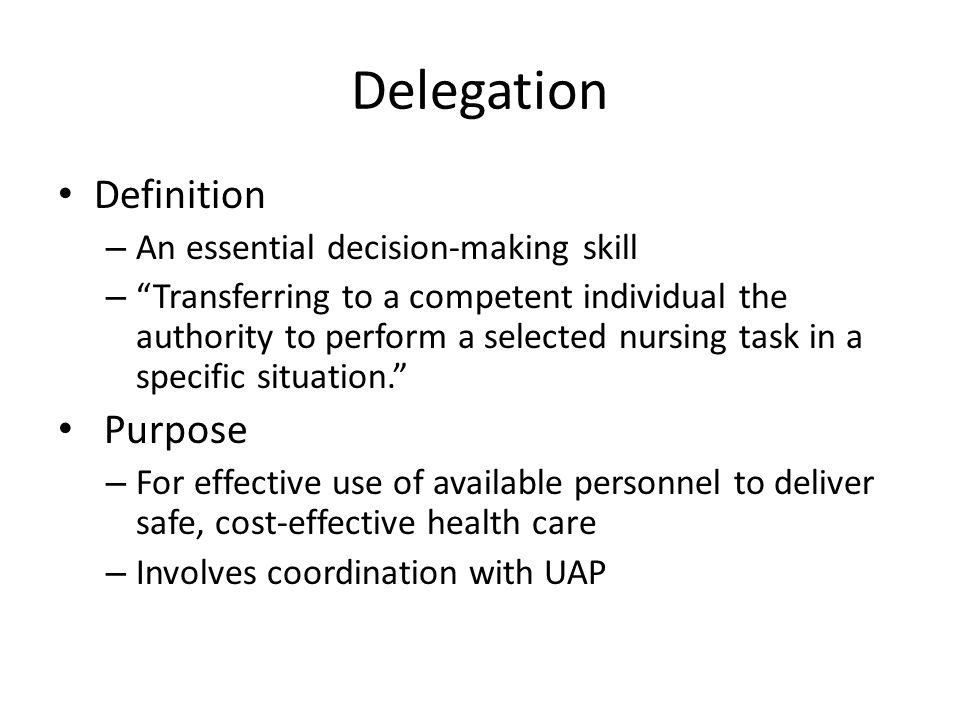 DELEGATION DEFINITION PDF