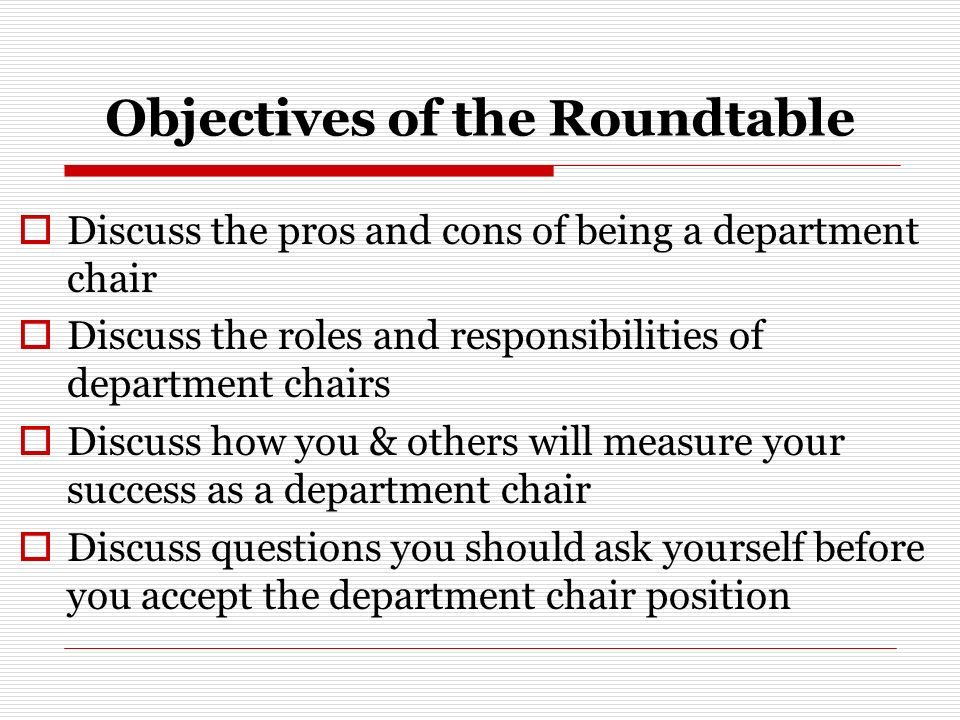 3 Objectives ...  sc 1 st  SlidePlayer & Navigating the Department Chair Position: Is It Different for ...
