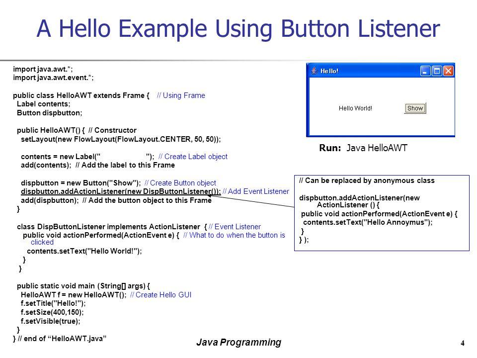 Graphics programming exercises java programming tutorial.