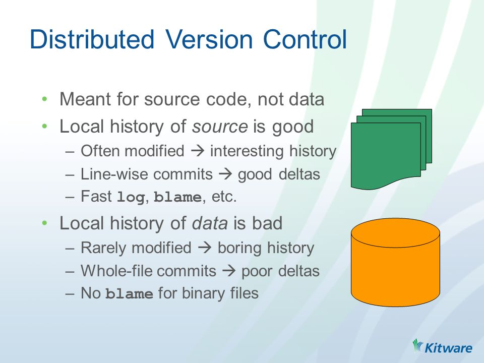 Test Data Management  Distributed Version Control Meant for