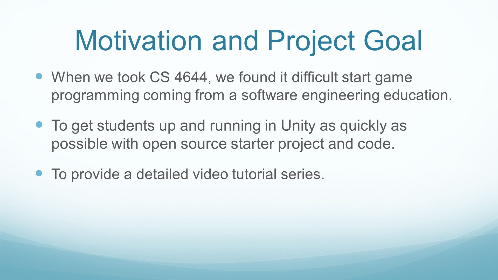 Open Source Unity Game Project