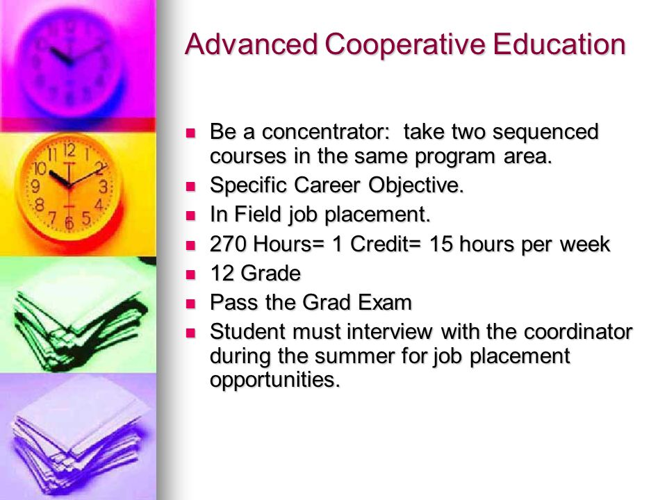 Co-op How can a student qualify for co-op?  Two paths of