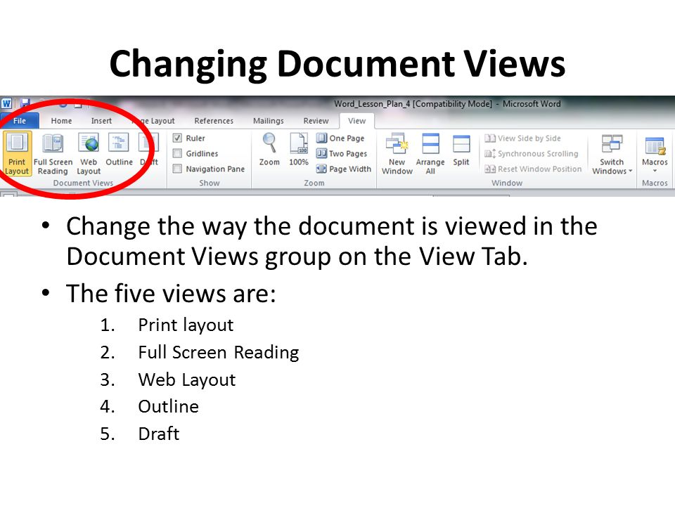 lesson 4 revising the document layout microsoft word ppt download