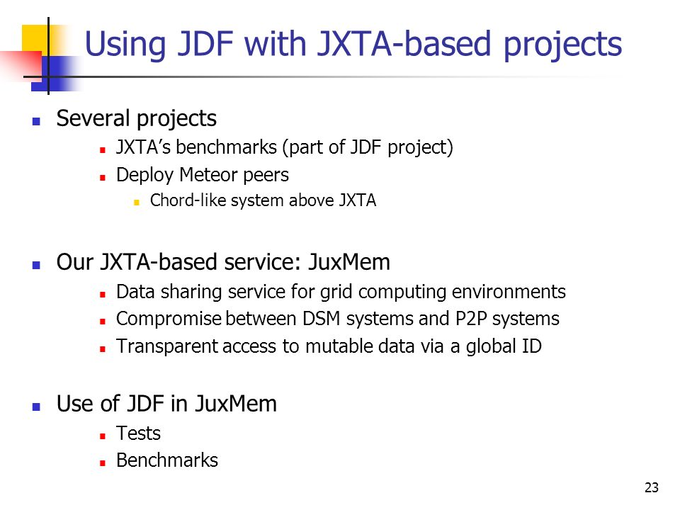Large-scale Deployment in P2P Experiments Using the JXTA Distributed
