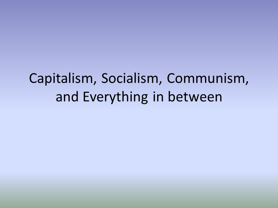 capitalism communism essays Capitalism essays / communism is a better form of economic organization than the purpose of this essay is to prove that communism is a better form of economic organization, compared to capitalism i will use these following examples equality, employment, health care and society, to show why communism is a better form of economic organization.