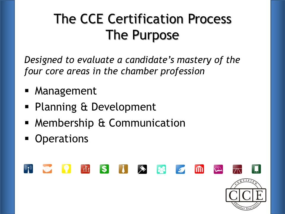 Cce Certification Program Session Will Cover Who Who What What Why