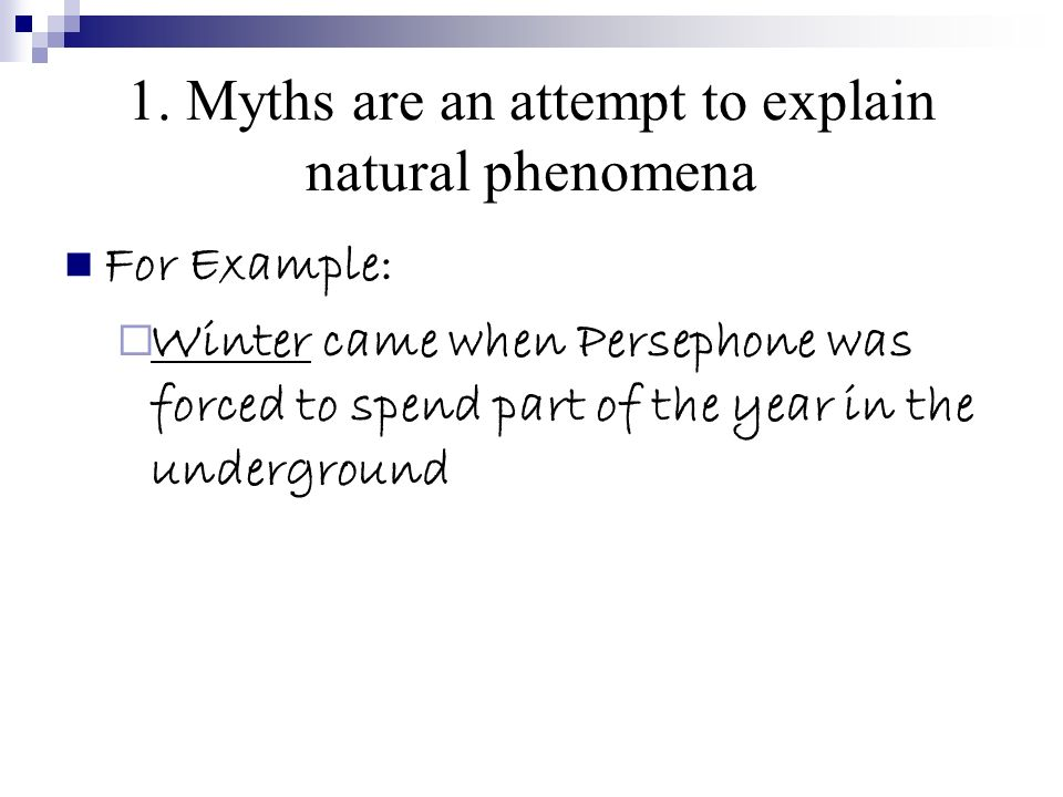 myth writing examples