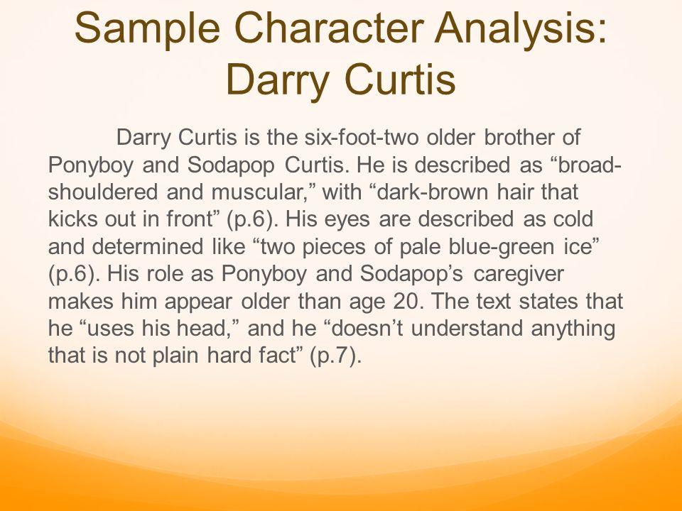 ponyboy curtis character analysis