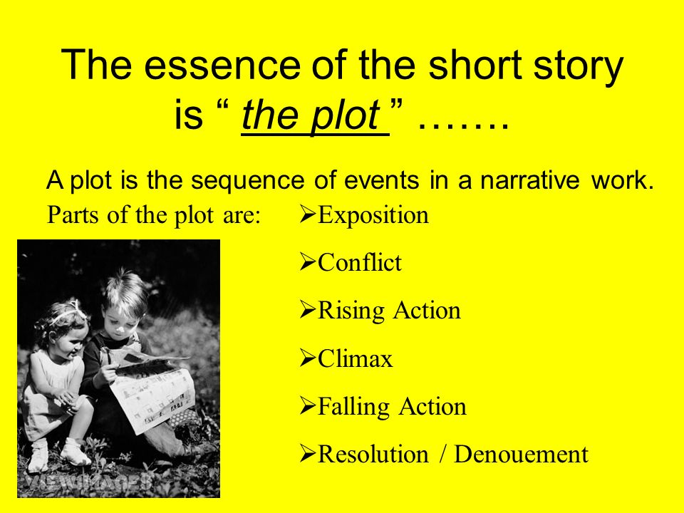 The essence of the short story is the plot …….