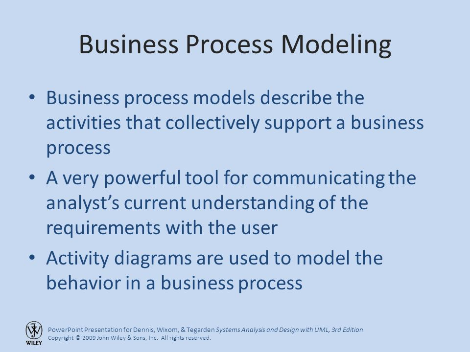 Powerpoint presentation for dennis wixom tegarden systems powerpoint presentation for dennis wixom tegarden systems analysis and design with uml ccuart Images