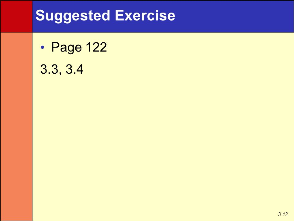 3-12 Suggested Exercise Page , 3.4