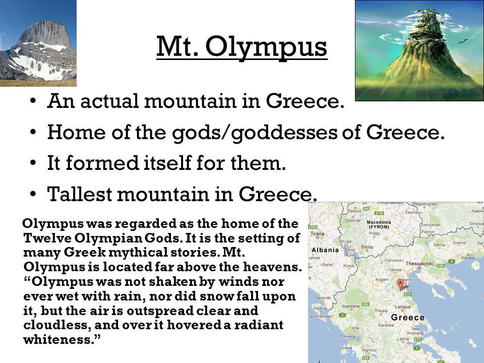 Greek/Roman Mythology gods and goddesses of Mt  Olympus B C  onward