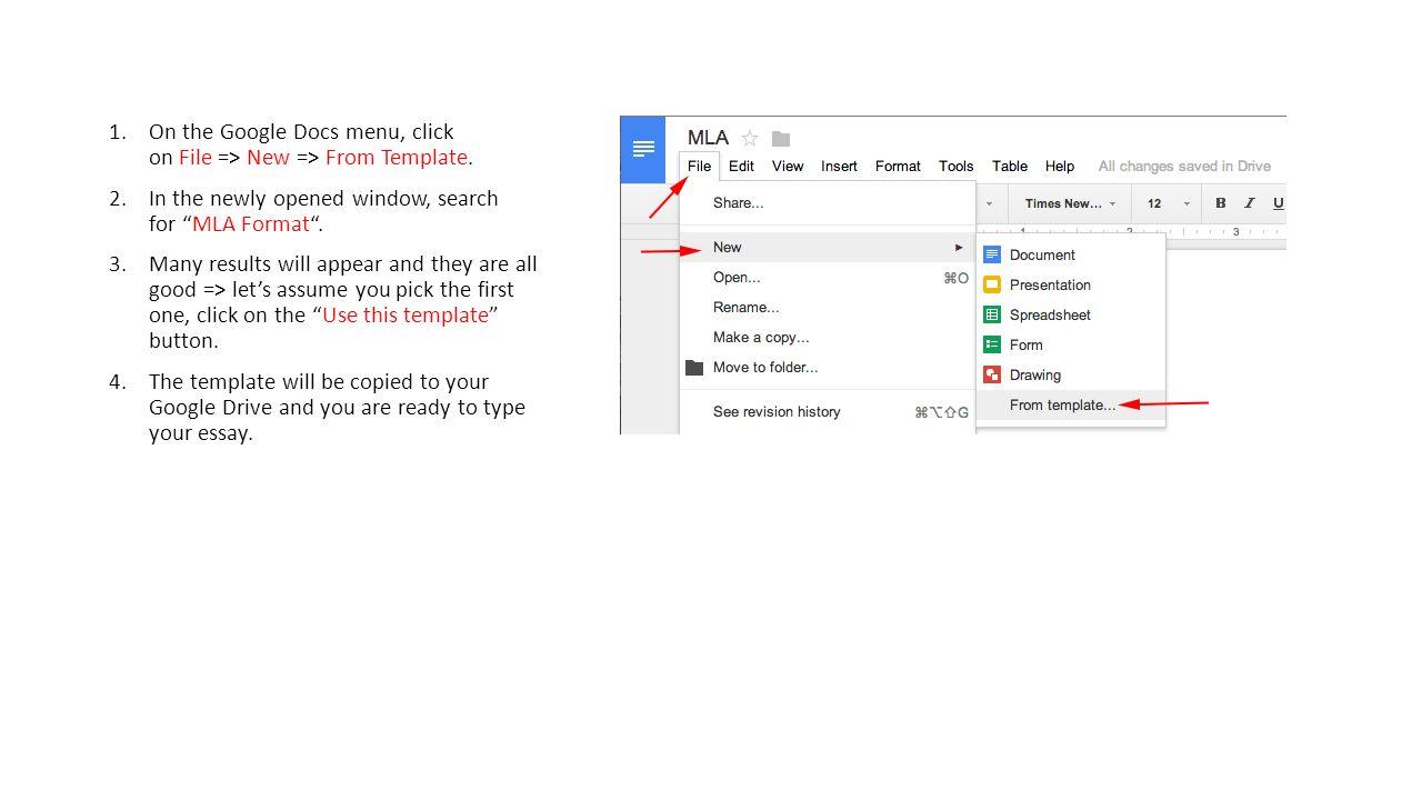 Google Docs And Mla Format Freshman English Bootcamp Ppt Download