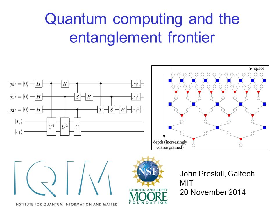 Quantum computing and the entanglement frontier John