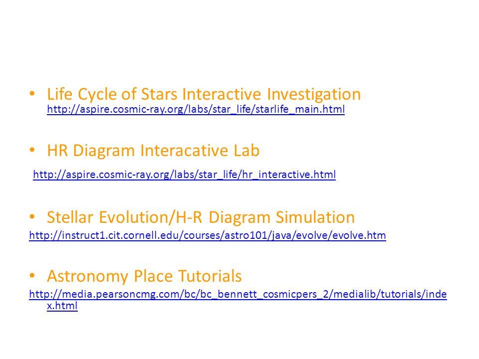 Hr Diagram Characteristics Of Stars Temperaturecolor Mass