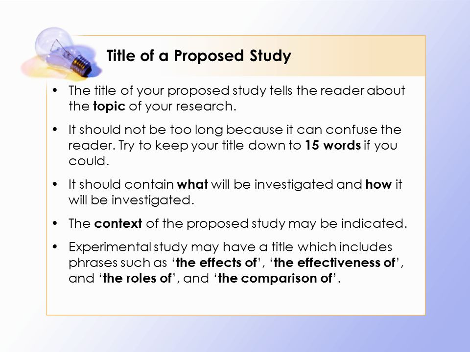 parts of research proposal