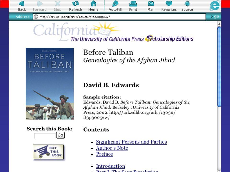 before taliban edwards david b