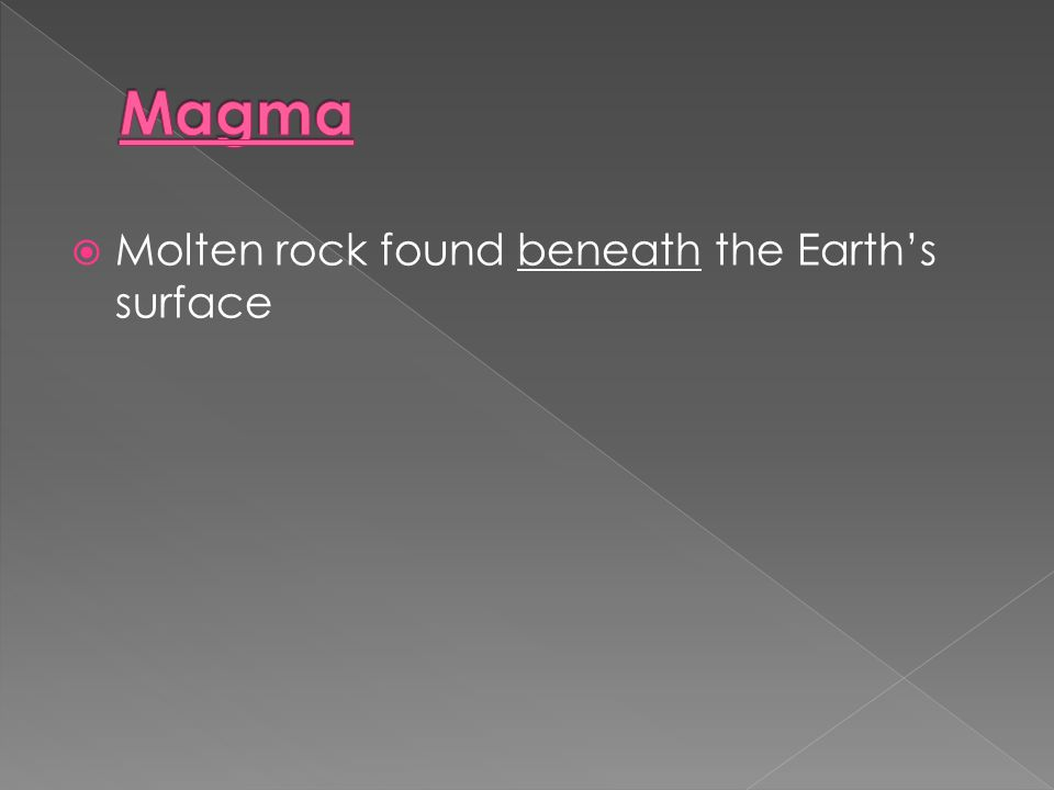  Molten rock found beneath the Earth's surface