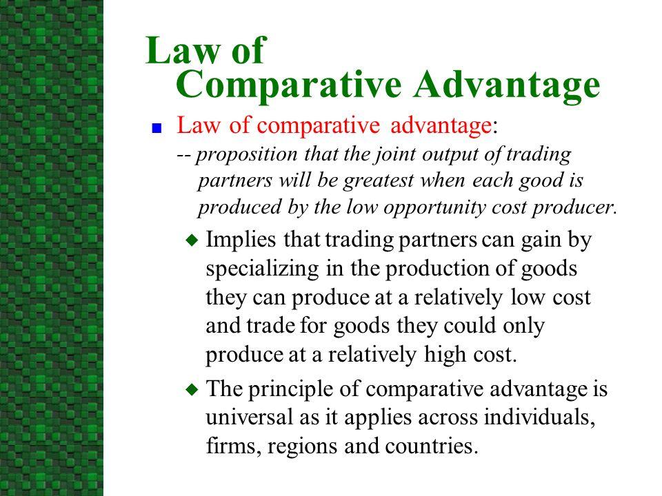 law of comparative cost advantage