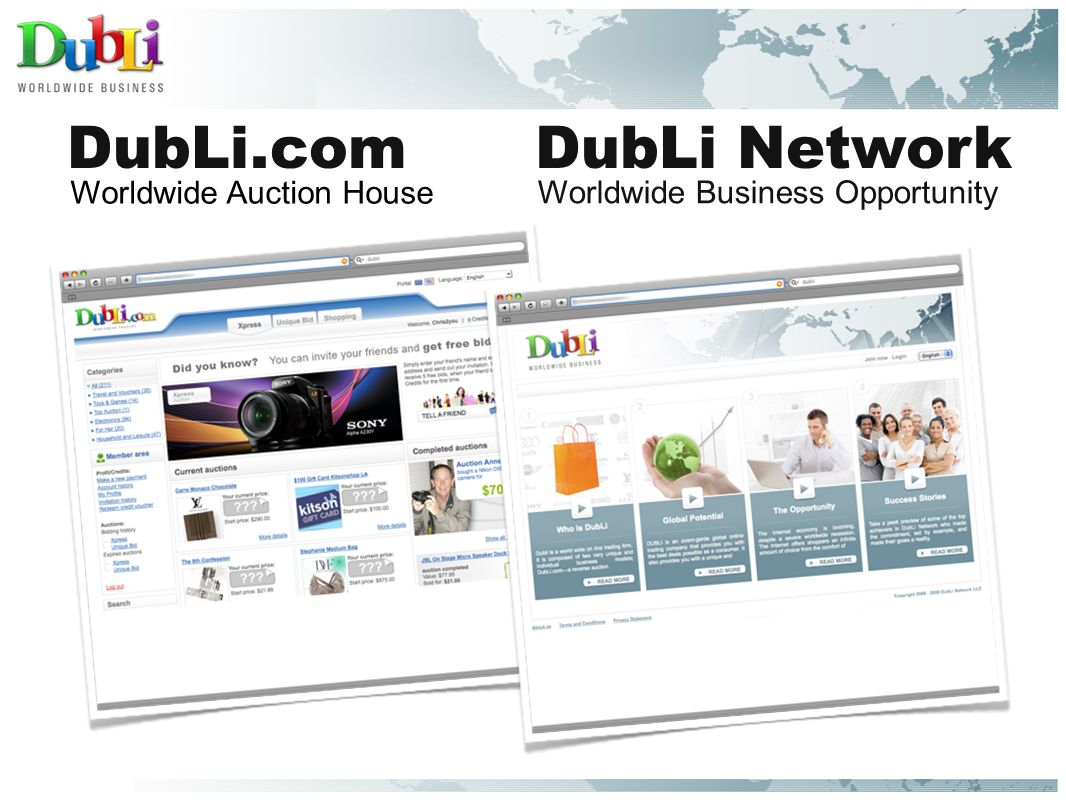 Dubli Comdubli Network Worldwide Business Opportunity Worldwide Auction House Ppt Download