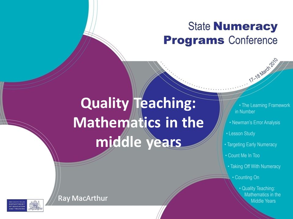 Quality teaching mathematics in the middle years ray macarthur 1 quality teaching mathematics in the middle years ray macarthur ccuart Image collections