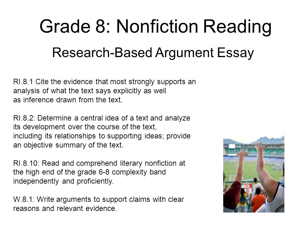 research based argument essay