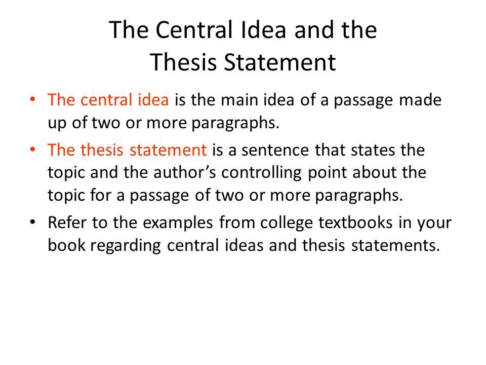 main idea statement examples