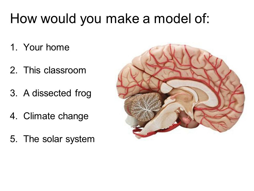 How would you make a model of: 1. Your home 2. This classroom 3.