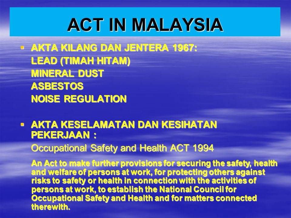 Occupational Health By Dr Norhasmah Bt Sulaiman Department Of Resources Management And Consumer Studies Faculty Of Human Ecology Upm Ppt Download