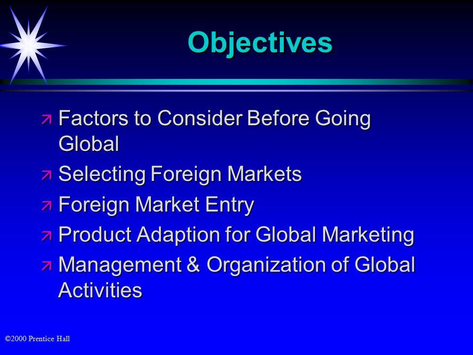 factors to consider when entering an international market pdf