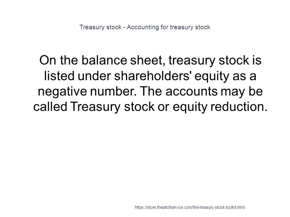Treasury Stock - ppt download