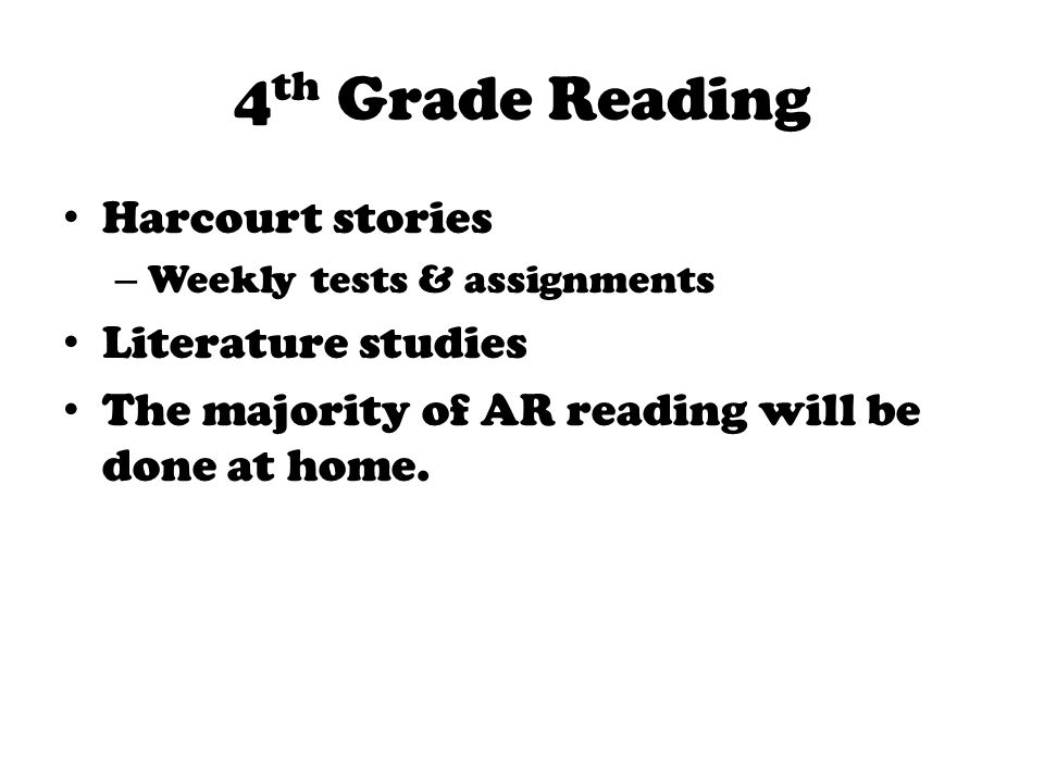 Welcome To Fourth Grade Get Ready For A Great Year Ppt