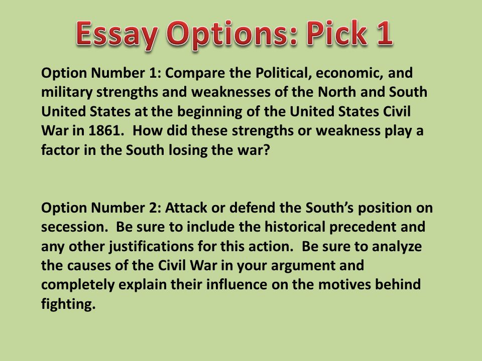 why did the south lose the civil war essay