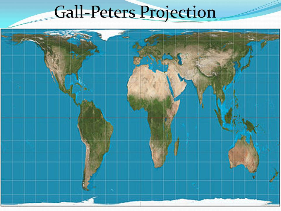 Gall Peters Projection World Map.Mercator Projection Video Gall Peters Projection Ppt Download