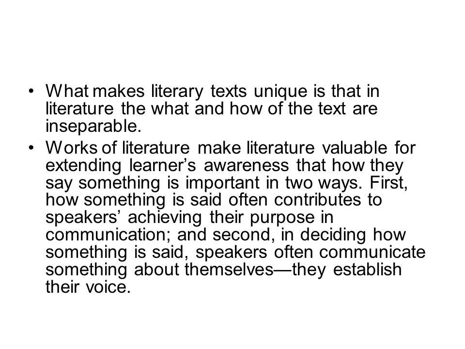 what makes literature