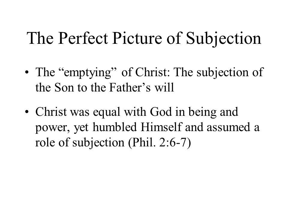 THE SUBJECTION OF THE SON