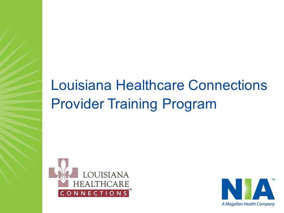 Louisiana Healthcare Connections Provider Training Program