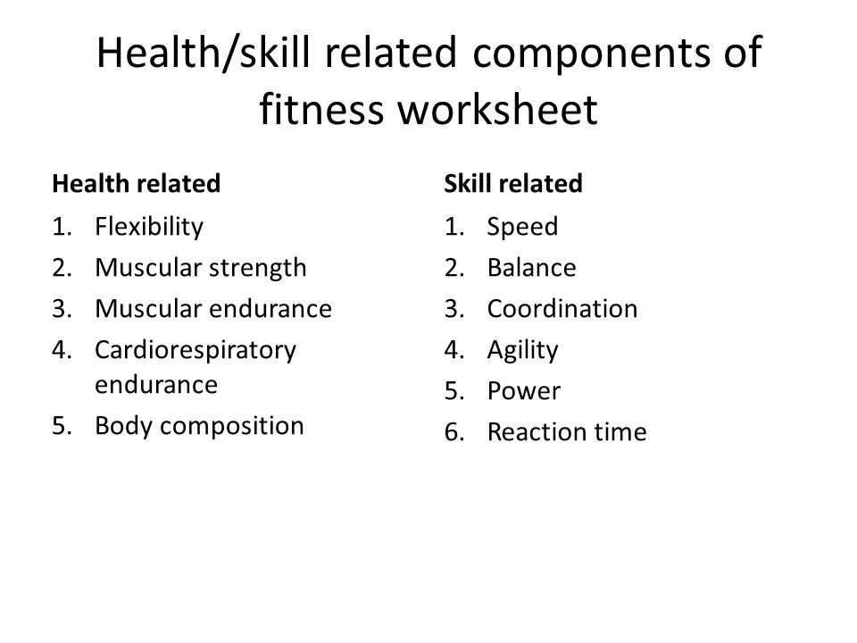 Fitness Classroom Activities Physical Education Health Related