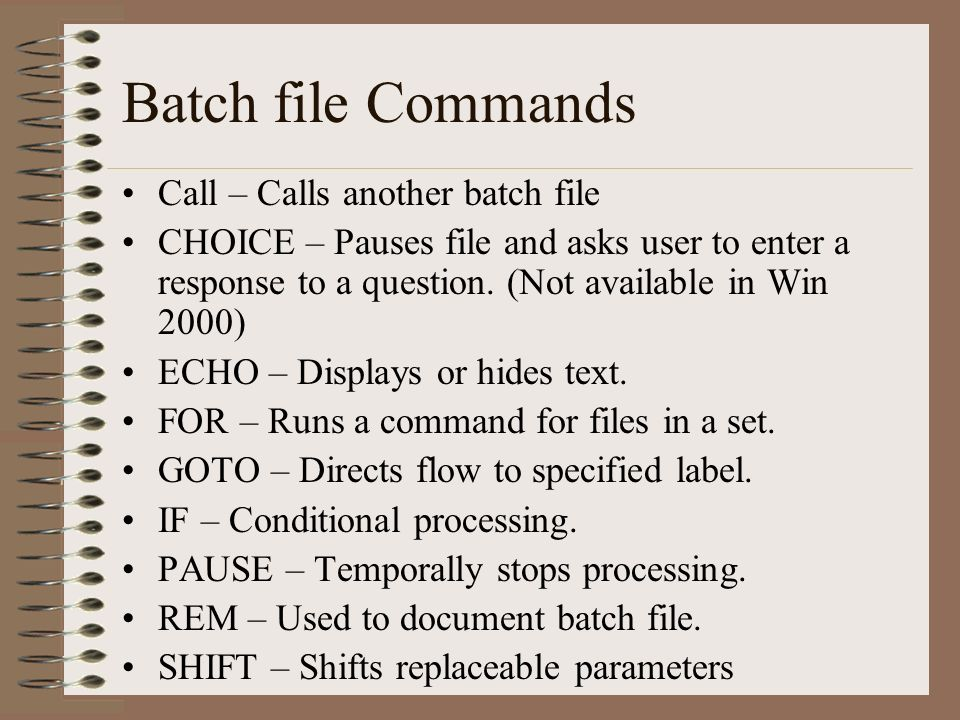Command Prompt Chapter 10 Introduction to Batch Files