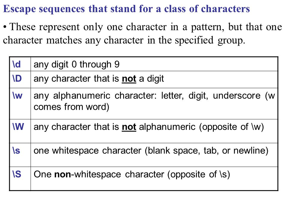 Chapter 11: Regular Expressions and Matching The match