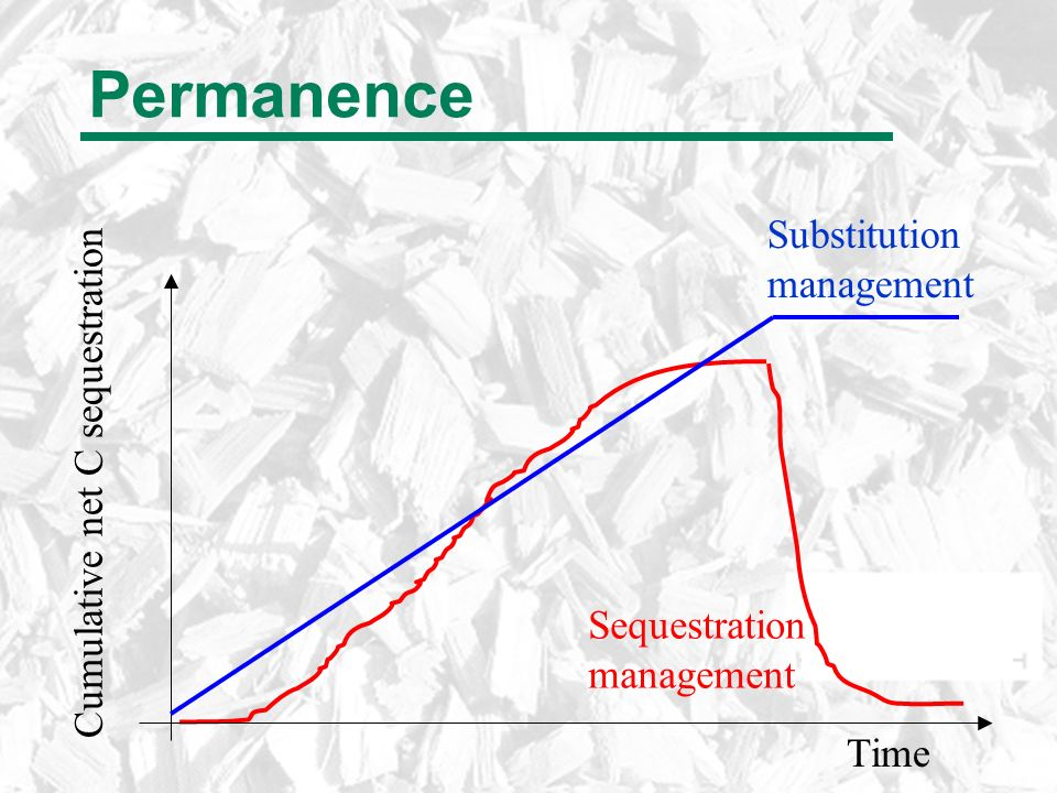 Permanence Time Cumulative net C sequestration Sequestration management Substitution management