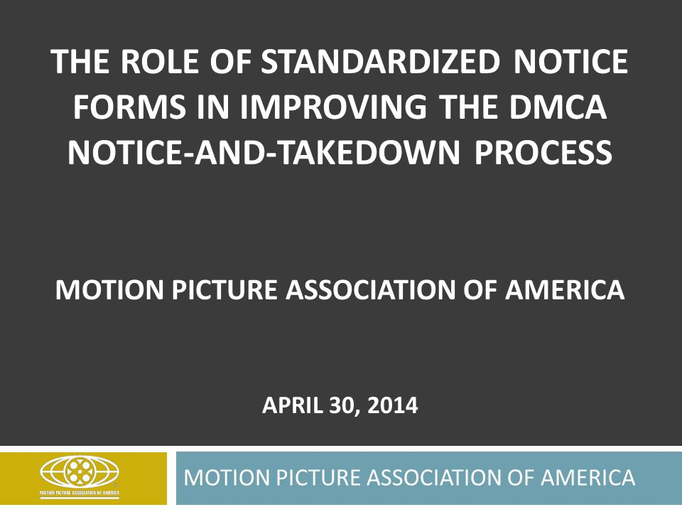 Dmca Notice Template | The Role Of Standardized Notice Forms In Improving The Dmca Notice