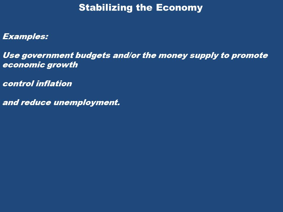 Economic stabilization policy: definition & overview video.